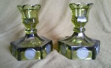More details for 4000 100th anniversary of the us constitution green glass candlesticks