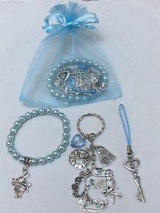 Alice In Wonderland Pre Filled Party Bags, Bracelet, Keyring & Phone Cord, Gift,