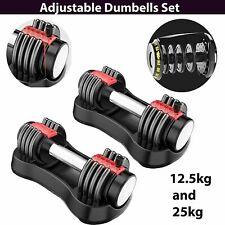 Adjustable Dumbbells 2 x 12.5kg PAIR SET ( 25kg total )