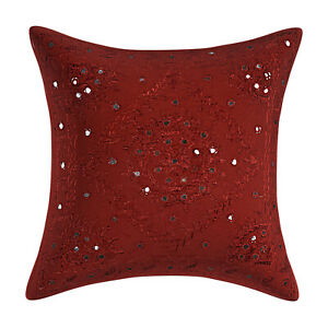 Bedding Sofa Pillow Case Cover Indian Cotton Throw Embroidered Cushion Cover