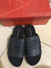 NEW Aerosoles Sandal Size 7M Black Leather