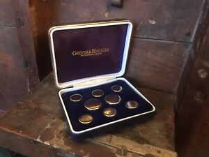 Gieves & Hawkes Set Of Boxed Gold Blazer Buttons