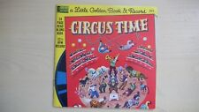 """Little Golden Book & Record CIRCUS TIME 7"""" 33rpm 1976"""