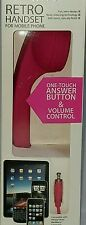 New Classic Pink Retro Handset Receiver For Smartphones Mobile Phones and Tablet