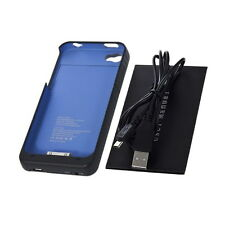 Blue 1900mAh External Backup Battery Charger Case For iPhone 4 4S LE