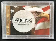 American Silver Eagle - One Dollar Coin - Plastic Coin Holder - H E Harris & Co