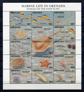 25465) Grenada 1991 MNH New Marine Life Ms