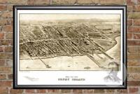 Vintage Coney Island, NY Map 1906 - Historic New York Art - Victorian Industrial
