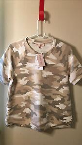 Philosophy Republic Clothing MODAL Women's Short Slv Camo T-Shirt Size S NWT$48
