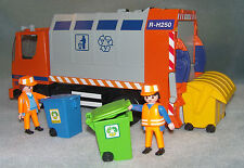 Playmobil Bin Rubbish Recycling Lorry with bins + figures Set 4418 complete