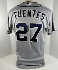 2013 San Diego Padres Reymond Fuentes #27 Game Issued Grey Jersey