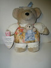 "New Hallmark 10.5"" Chrysantha Mom & Sweet Pea Gardening Bear Mother & Baby Plush"