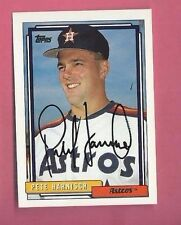 PETE HARNISCH Autograph 1992 TOPPS Auto Signed ASTROS