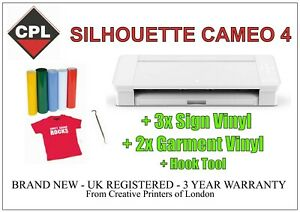 Silhouette Cameo 4 Plotter/Cutter.  3 Years Warranty. FREE SIGN & T-SHIRT VINYL