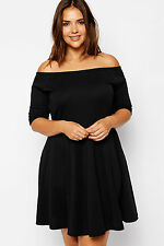 Abito Scollo dritto Gonna Taglie forti Grandi Curvy Formosa Plus Size Dress XXL