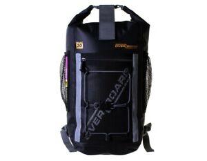 20 / 30 Litre Backpack OverBoard 100% Waterproof Pro Light Black Hiking Outdoors