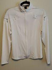 JAMIE Sadock women's White full zip Golf top size Medium-I32