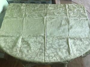 """1 x Olive Green Satin Window's Curtain 82"""" x 42""""/6.8' x 3.5'"""
