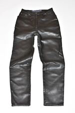 """Black Look Leather OUTPOST Straight Leg Women's Trousers Pants Size W26"""" L29"""""""