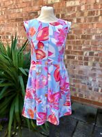 Pink and Blue Vince Camuto Fit & Flare Dress, UK Size 12