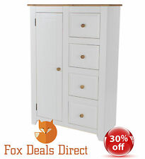 Mexican 1 Door 4 Drawer Tallboy Pine Solid Rustic Quality Bedroom Dovetail Home