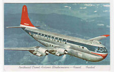 Northwest Orient Airlines Stratocruiser Airplane Plane Aircraft postcard