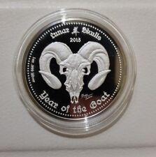 Ghana 2015 lunar skulls 5 cedis  1 oz silver 999 pp proof only 500 mintages