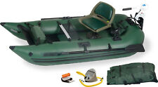 SEA EAGLE 285 FPB WATERSNAKE MOTOR PACKAGE INFLATABLE 9 FT PONTOON BOAT GREEN