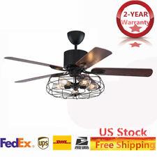 """New Listing52"""" Retro Industrial Ceiling Fan Light Elegant 5 Led Edison Bulb Living Room Us"""