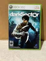 Dark Sector for Microsoft XBOX 360 Used Complete with Manual Good Free Shipping