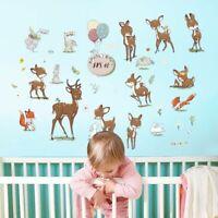 2020 Cute Cartoon Sika Deer Wall Sticker Decal Kids Nursery Baby Room Decoration