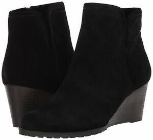 Rockport Women's Shoes Hollis Fabric Round Toe Ankle Fashion, Black, Size 8.5