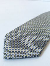 Express Gold / Blue Geometric Design All Silk Neck Tie