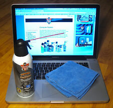 Falcon Dust Off 12 Oz can of compressed Air with FREE microfiber cloth -Wow