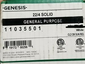 Honeywell Genesis 1103 22/4C Solid Conductor Security/Control Cable White /100ft