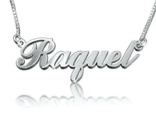 Rachel necklace, Nameplate necklace,  name neckless,  order any name! silver 925