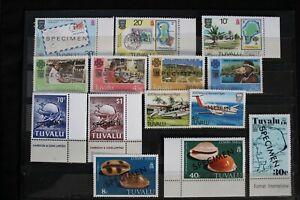 TULALU COLLECTION OF 20 DIFFERENT SPECIMEN OVERPRINTED STAMPS - MNH