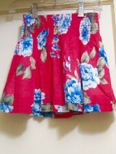 NWT 'ABERCROMBIE KIDS' red cotton summery FLOWER SKIRT Sz M 10-12 Orig $29