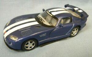2012 Blue Dodge Viper Racing Stripe 1:32 Scale Model Car by Kinsmart Excellent