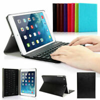 "UK iPad 5th/6th Gen 2018/2017 9.7"" Wireless Bluetooth Keyboard Stand Case Cover"