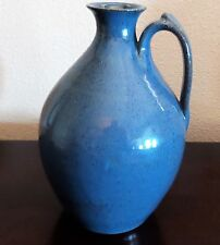 Old Time Pottery Winthrop, Wa. Hand Thrown Blue Speckled Jug 1982