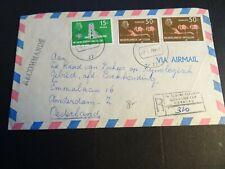 Nederlandse Antillen 280, 286 2x op aangetekende brief naar Amsterdam