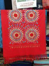 Pashmina Cashmere Scarf shawl pashmina Scarves wraps Flower Embroided