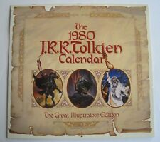 1980 J.R.R. Tolkien Calendar Hobbit Lord of the Rings Great Illustrators Edition