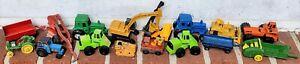 16 Diecast Farm/Construction Toys-Ertl-Matchbox Lesney-Tonka-Tomica-John Deere