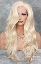 LONG wavy layered Side skin part top Pale blonde WIG JSCO 613