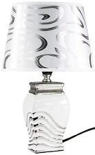 Lampe elegant edel Tischleuchte Tischlampe Nachtlichter Relief stilvoll 776