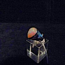 Ring, Gr. 57,  Silber 925 mit einem Opal Cabochon aus Äthiopien
