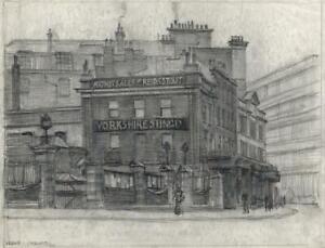 FRANK LEWIS EMANUEL (1865-1948) Pencil Drawing YORKSHIRE STINGO LONDON
