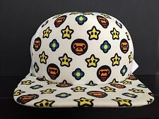 A Bathing Ape x Nintendo Mario Snapback Hat Cap Super Star & Fire Flower